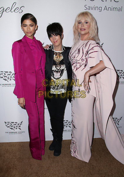 HOLLYWOOD, CA - MAY 07: kesha, Diane Warren, Zendaya attends The Humane Society of the United States' to the Rescue Gala at Paramount Studios on May 7, 2016 in Hollywood, California.  <br /> CAP/MPI/PA<br /> &copy;PA/MPI/Capital Pictures
