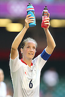 Casey STONEY of Great Britain thanks the fans after the final whistle - Great Britain Women vs New Zealand Women - Womens Olympic Football Tournament London 2012 Group E at the Millenium Stadium, Cardiff, Wales - 25/07/12 - MANDATORY CREDIT: Gavin Ellis/SHEKICKS/TGSPHOTO - Self billing applies where appropriate - 0845 094 6026 - contact@tgsphoto.co.uk - NO UNPAID USE.