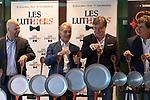 (LtoR) Tomas Mayer Wolf, Jorge Marona, Roberto Antier and Horacio Tato Turano during the press conference of Les Luthiers, Viejos Hazmerreires. September 16, 2019. (ALTERPHOTOS/Johana Hernandez)