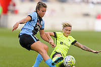 Chicago, IL - Sunday Sept. 04, 2016: Sofia Huerta, Jessica Fishlock during a regular season National Women's Soccer League (NWSL) match between the Chicago Red Stars and Seattle Reign FC at Toyota Park.