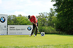 Thomas Bjorn (DEN) tees off on the 6th tee during Day 3 of the BMW Italian Open at Royal Park I Roveri, Turin, Italy, 11th June 2011 (Photo Eoin Clarke/Golffile 2011)