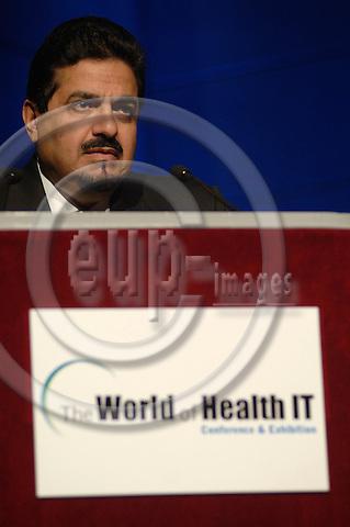 GENEVA - SWITZERLAND 13. 10. 2006 -- The World of Health IT. SESS46 HE Sheikh Ahmad Al-Abdullah Al-Ahmad Al-Sabah, MOH, Kuwait (Moderator: Kazem Behbehini, WHO)  -- PHOTO: GORM K. GAARE / EUP- IMAGES .