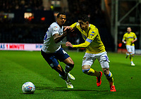 Leeds United's Pablo Hernandez takes on Preston North End's Lukas Nmecha<br /> <br /> Photographer Alex Dodd/CameraSport<br /> <br /> The EFL Sky Bet Championship - Preston North End v Leeds United -Tuesday 9th April 2019 - Deepdale Stadium - Preston<br /> <br /> World Copyright &copy; 2019 CameraSport. All rights reserved. 43 Linden Ave. Countesthorpe. Leicester. England. LE8 5PG - Tel: +44 (0) 116 277 4147 - admin@camerasport.com - www.camerasport.com