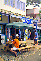 The Coffee Gallery is a favorite spot to relax and enjoy a wide variety of Kona coffees and local foods.  Located at the Northshore Marketplace in historic Haleiwa town.