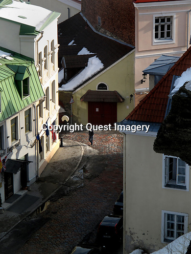 Tallinn is the capital and largest city of Estonia. It is situated on the northern coast of the country, on the shore of the Gulf of Finland, 50 mles south of Helsinki, east of Stockholm and west of Saint Petersburg. Tallinn's Old Town is listed as a UNESCO World Heritage Site. <br /> Photo by Deirdre Hamill/Quest Imagery