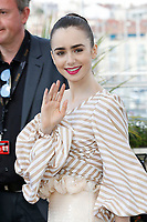 "Lily Collins at the ""Okja"" photocall during the 70th Cannes Film Festival at the Palais des Festivals on May 19, 2017 in Cannes, France. Credit: John Rasimus /MediaPunch ***FRANCE, SWEDEN, NORWAY, DENARK, FINLAND, USA, CZECH REPUBLIC, SOUTH AMERICA ONLY***"