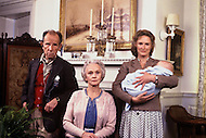 New York, USA. December 1981. From the american comedy drama film, The World According to Garp,  directed by George Roy Hill, based on the novel of the same title by John Irving. Photo of Jessica Tandy, Glenn Close and Hume Cronyn.