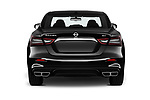 Straight rear view of 2020 Nissan Maxima SV 4 Door Sedan Rear View  stock images