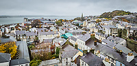 Caernarfon as seen from the castle in north Wales, UK. Friday 01 November 2019