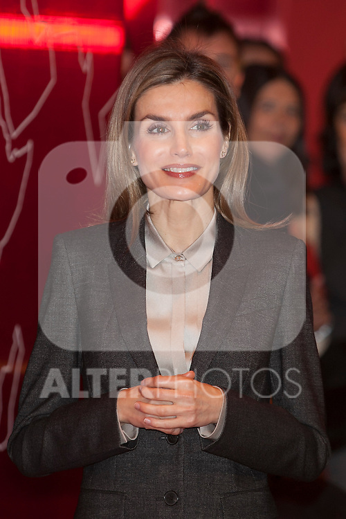 Queen Letizia of Spain attends tourism fair FITUR in Madrid, Spain. Month XX, 2015. (ALTERPHOTOS/Victor Blanco)