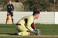 Samuel Butler of Sawbridgeworth makes a saveduring Walthamstow vs Sawbridgeworth Town, Essex Senior League Football at Wadham Lodge Sports Ground on 8th February 2020