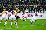 09.03.2019, Signal Iduna Park, Dortmund, GER, 1.FBL, Borussia Dortmund vs VfB Stuttgart, DFL REGULATIONS PROHIBIT ANY USE OF PHOTOGRAPHS AS IMAGE SEQUENCES AND/OR QUASI-VIDEO<br /> <br /> im Bild   picture shows:<br /> Paco Alcacer (Borussia Dortmund #9) trifft zum 2:1, <br /> <br /> Foto &copy; nordphoto / Rauch