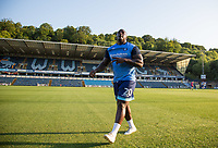 Adebayo Akinfenwa of Wycombe Wanderers ahead of the  the Friendly match between Wycombe Wanderers and AFC Wimbledon at Adams Park, High Wycombe, England on 25 July 2017. Photo by Andy Rowland.