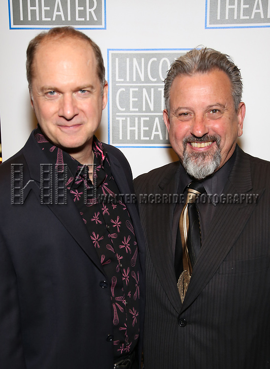 Daniel Jenkins and Jeff Still attend the Opening Night Performance press reception for the Lincoln Center Theater production of 'Oslo' at the Vivian Beaumont Theater on April 13, 2017 in New York City.