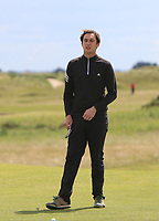 Colin Woodroofe (Dun Laoghraire) on the 1st green during Round 3 of the East of Ireland Amateur Open Championship at Co. Louth Golf Club in Baltray on Sunday 4th June 2017.<br /> Photo: Golffile / Thos Caffrey.<br /> <br /> All photo usage must carry mandatory copyright credit     (&copy; Golffile | Thos Caffrey)