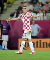 FUSSBALL  EUROPAMEISTERSCHAFT 2012   VORRUNDE Kroatien - Spanien                 18.06.2012 Ivan Perisic (Kroatien)