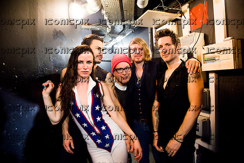 JULIETTE LEWIS & The Licks - backstage at The Trabendo in Paris France - 29 Apr 2016.  Photo credit: ROD/Dalle/IconicPix