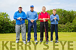 Adrianne Kelleher, Manchester United Legend Lee Martin, Ronan Kelleher and Brian Kelleher at the   McHales Golf Classic in aid of Our Ladys Children's Hospital Crumlin at Ballyheigue Golf Club on Friday