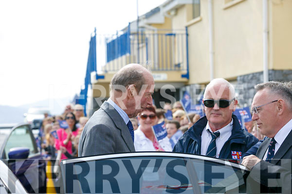 Prince Edward, Duke of Kent,  visited  the RNLI Lifeboat station in Fenit on Tuesday greeted by Tom McCormack and Gerard O'Donnell (Lifeboat Operations Manager)