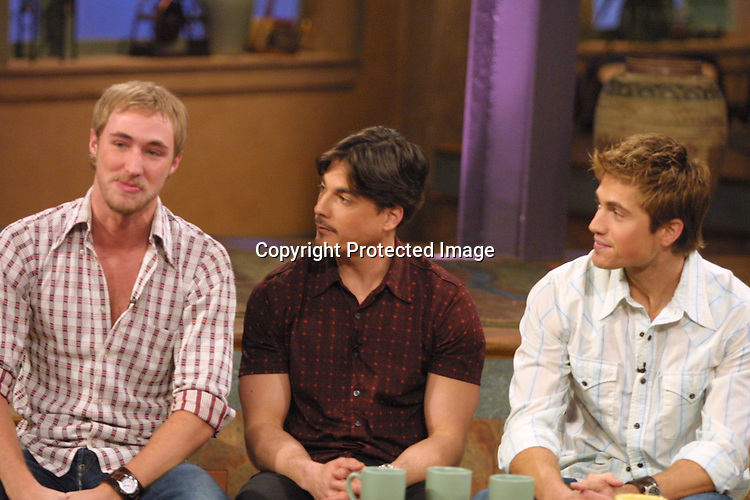 ©2003 KATHY HUTCHINS/ HUTCHINS PHOTO.THE OTHER HALF TAPING.BURBANK, CA.DECEMBER  17, 2002.  KYLE LOWDER, BRYAN DATTILO, ERIC WINTER