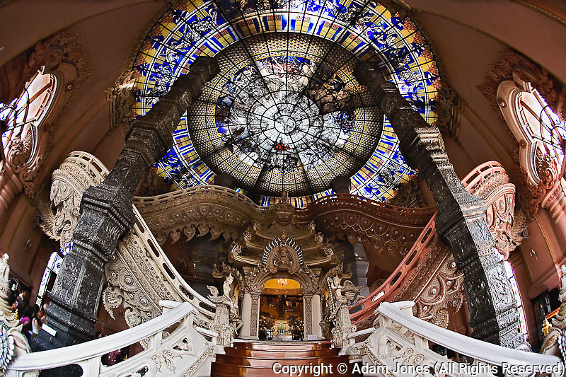 The Stairway to Heaven, Erawan Museum in Samut Prakan, souteast of Bangkok, Thailand.  Commissioned by Lek Viriyapant and the museum houses his priceless collection of ancient religious objects.