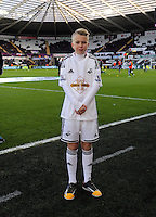 Pictured: Children mascots Saturday 10 January 2015<br />