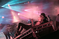 19th July 2014: Norwegian electronic music duo R&Atilde;&para;yksopp and Swedish recording artist Robyn plays the BBC 6 Music Stage in support of their collaborative album Do It Again on the third day of the 9th edition of the Latitude Festival, Henham Park, Suffolk.<br />Picture by Stuart Hogben