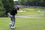 Ernie Els (RSA) tees off on the par3 2nd tee during the Final Day of the BMW PGA Championship Championship at, Wentworth Club, Surrey, England, 29th May 2011. (Photo Eoin Clarke/Golffile 2011)