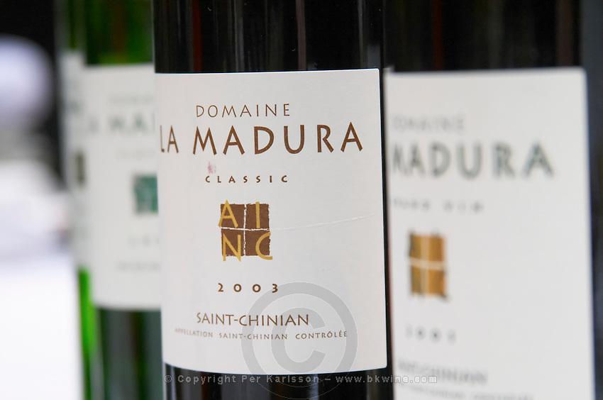 Domaine la Madura Classic St Chinian. Languedoc. France. Europe. Bottle.