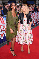 Alesha Dixon and Amanda Holden<br /> arrives for the Britain's Got Talent 2018 auditions, Palladium Theatre, London<br /> <br /> <br /> ©Ash Knotek  D3373  28/01/2018
