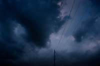 Pending storm and powerline.