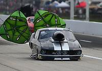 Apr 24, 2015; Baytown, TX, USA; NHRA  pro mod driver Jeffrey Cummins Jr during qualifying for the Spring Nationals at Royal Purple Raceway. Mandatory Credit: Mark J. Rebilas-