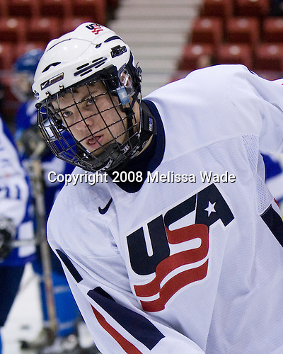 Jeremy Morin (US - 11) - Team USA defeated Team Finland 3-2 to win the Four Nations Cup (Under-18 boys) on Saturday, November 9, 2008 in the 1980 Rink in Lake Placid, New York.