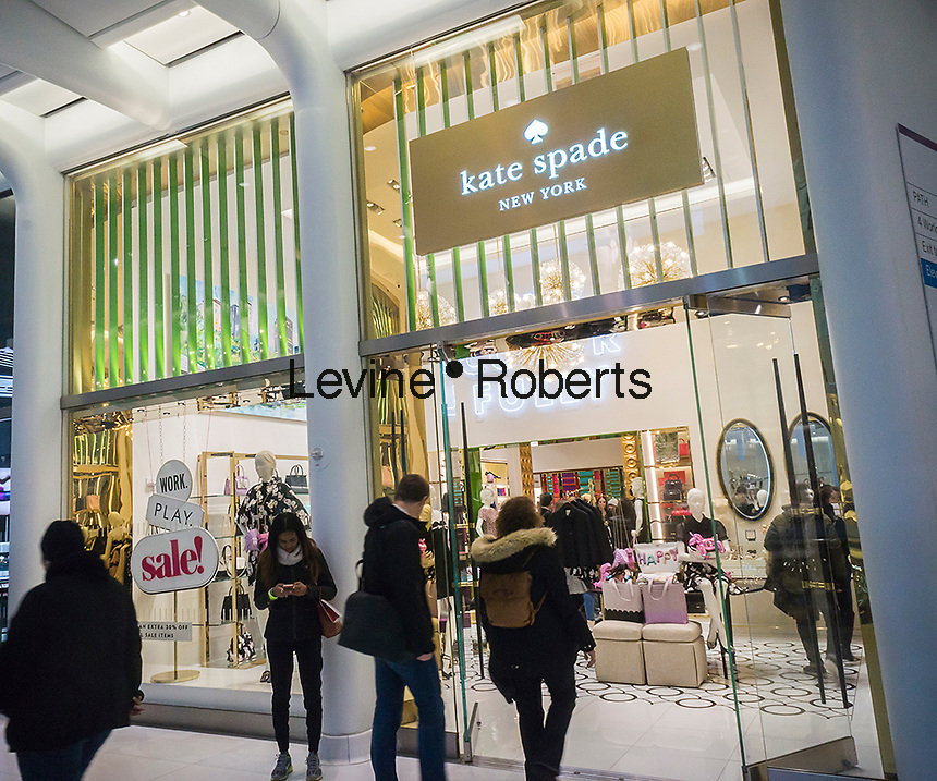 The Kate Spade store in the World Trade Center Transportation Hub, known as the Oculus, on Monday, January 2, 2017. Bowing to pressure from an activist shareholder, Caerus Investors,Kate Spade & Co. is reported to be exploring a sale of the company. (© Richard B. Levine)