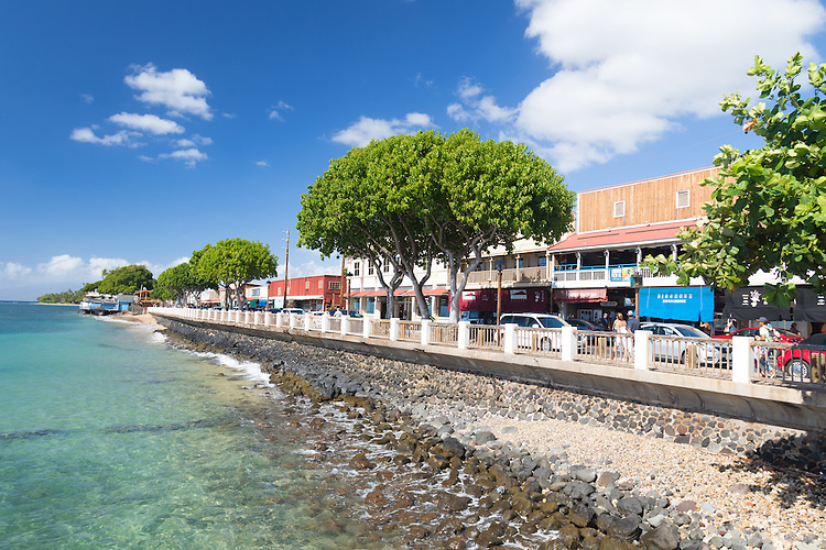 The town of Lahaina, Maui, Hawaii, USA