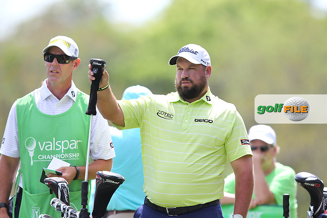 Brendon de Jonge of Zimbabwe drives from the 2nd tee during the 3rd round of the Valspar Championship, Innisbrook Resort (Copperhead), Palm Harbor, Florida, USA<br /> Picture: Peter Mulhy / Golffile