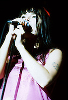 Bjork performing at Sala La Riviera in Madrid 1995