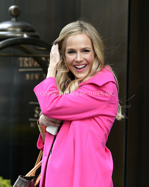 WWW.ACEPIXS.COM....April 11 2013, New York City....Actress Julie Benz leaves a Soho hotel on April 11 2013 in New York City........By Line: Curtis Means/ACE Pictures......ACE Pictures, Inc...tel: 646 769 0430..Email: info@acepixs.com..www.acepixs.com