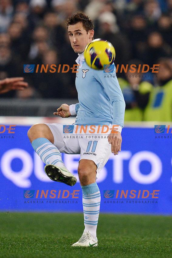 Miroslav Klose (Lazio).29/01/2013 Roma.Stadio Olimpico.Football Calcio 2012 / 2013 .Tim Cup Semifinali di Coppa Italia.Lazio Juventus 2-1.Foto Insidefoto / Andrea Staccioli