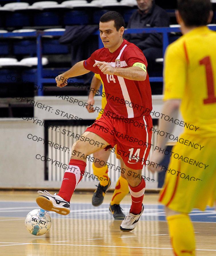 Slobodan Rajcevic UEFA futsal friendly game, prijateljska utakmica, Srbija Makedonija 22.2.2014. (credit image & photo: Pedja Milosavljevic / STARSPORT / +318 64 1260 959 / thepedja@gmail.com)