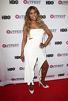 "LOS ANGELES, CA-  Lavern Cox, At 2017 Outfest Los Angeles LGBT Film Festival - Closing Night Gala Screening Of ""Freak Show"" at The Theatre at Ace Hotel, California on July 16, 2017. Credit: Faye Sadou/MediaPunch"