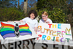 Vice chairman of the Butterfly Project Eimear O'Connor and secretary Diane Quirke who are urging anyone who is gay to contact the group which aims to bring gay teenagers together in a social group.