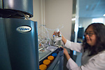 Research scientist Dr. Mei Wang at the Natural Products Training Center.  Photo by Kevin Bain/Ole Miss Communications