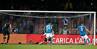 Football Soccer: UEFA Champions League Napoli vs Mabchester City San Paolo stadium Naples, Italy, November 1, 2017. <br /> Napoli's Jorginho (l) kicks a penalty during the Uefa Champions League football soccer match between Napoli and Manchester City at San Paolo stadium, November 1, 2017.<br /> UPDATE IMAGES PRESS/Isabella Bonotto