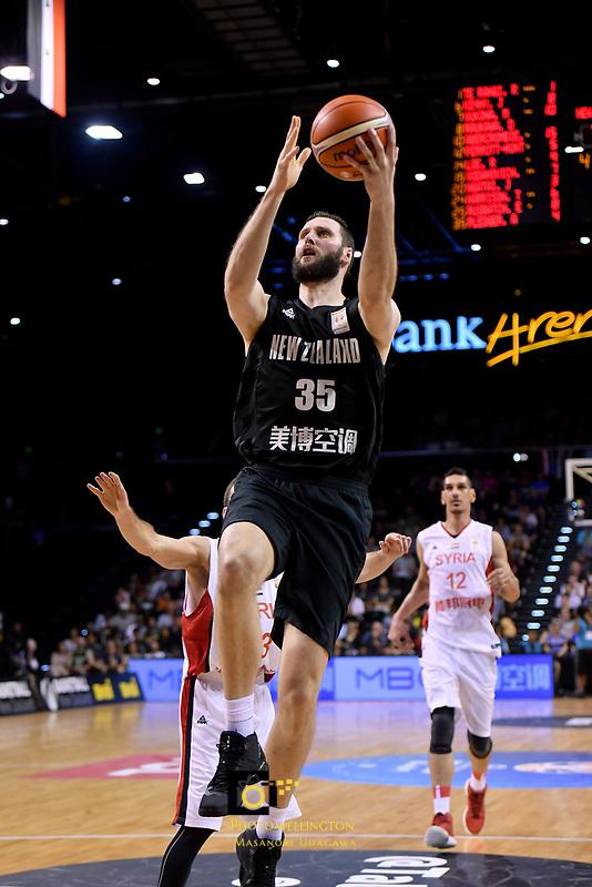New Zealand Tall Blacks&rsquo; Alex Pledger in action during the FIBA World Cup Basketball Qualifier - NZ Tall Blacks v Syria at TSB Bank Arena, Wellington, New Zealand on Sunday 2 2018. <br /> Photo by Masanori Udagawa. <br /> www.photowellington.photoshelter.com
