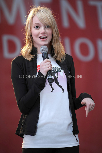 WWW.ACEPIXS.COM . . . . . .May 5, 2012...New York City....Emma Stone at the 15th Annual EIF Revlon Run/Walk For Women in Times Square on May 5, 2012 in New York City on May 5, 2012  in New York City ....Please byline: KRISTIN CALLAHAN - ACEPIXS.COM.. . . . . . ..Ace Pictures, Inc: ..tel: (212) 243 8787 or (646) 769 0430..e-mail: info@acepixs.com..web: http://www.acepixs.com .