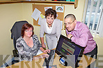 A BETTER SERVICE: Showing their website this week were staff from the Tralee Local Employment Service Helen Tobin, Liz O'Carroll and Jimmy Murphy.