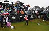 1st October 2017, Windross Farm, Auckland, New Zealand; LPGA McKayson NZ Womens Open, final round;  Canada's Brooke Henderson tees off on the 1st