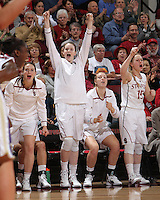 STANFORD, CA - January 21, 2012: Stanford Cardinal's Bonnie Samuelson during Stanford's 65-47 victory over Washington at Maples Pavilion.