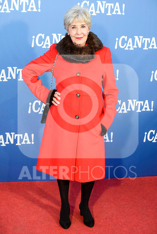 "Concha Velasco attends to the premiere of the film ""¡Canta!"" at Cines Capitol in Madrid, Spain. December 18, 2016. (ALTERPHOTOS/BorjaB.Hojas)"